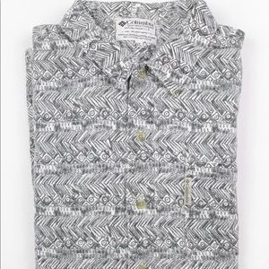 Men's Columbia Button Up All Over Print XL